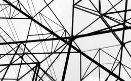 Черно-белая линия Стоковое фото RF