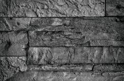 Черно-белая каменная стена Стоковые Фото