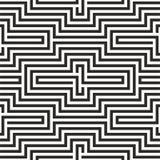 Черно-белая картина зигзага Стоковое Изображение RF