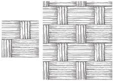 Черно-белая картина basketry иллюстрация вектора