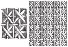 Черно-белая картина basketry бесплатная иллюстрация
