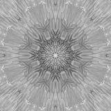 Черно-белая мандала серой шкалы с текстурой искусства handmade Стоковое Изображение