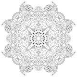 Черно-белая мандала Стоковые Изображения RF