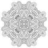 Черно-белая мандала Стоковые Фотографии RF