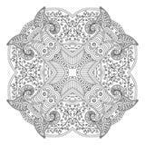 Черно-белая мандала Стоковое Фото