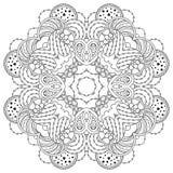 Черно-белая мандала Стоковое Изображение