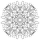 Черно-белая мандала Стоковое фото RF