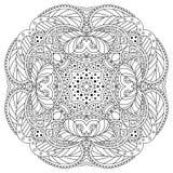 Черно-белая мандала Стоковое Изображение RF
