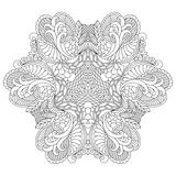 Черно-белая мандала Стоковая Фотография RF