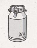 Черно-белая маслобойка молока иллюстрация штока