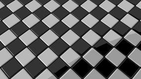 Черно-белая мозаика с круглой тенью Стоковые Фотографии RF