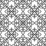 Черно-белая морокканская картина иллюстрация вектора