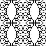 Черно-белая морокканская картина Стоковые Изображения RF