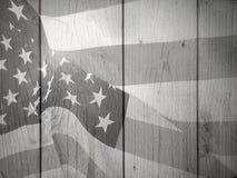 Черно-белая патриотическая предпосылка флага Стоковые Фото