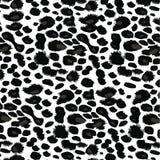 Черно-белая печать леопарда Иллюстрация вектора