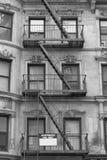 Черно-белая пожарная лестница Стоковое Изображение RF