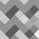 Черно-белая предпосылка, картина вектора ткани Стоковая Фотография RF