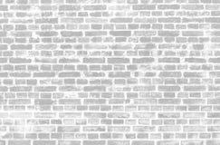 Черно-белая предпосылка кирпича grunge Стоковое Изображение