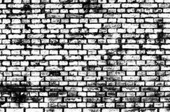 Черно-белая предпосылка кирпича grunge Стоковая Фотография