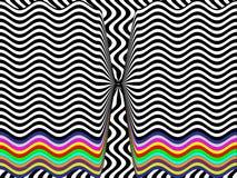 Черно-белая предпосылка с радугой Стоковые Фотографии RF