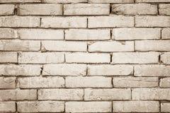 Черно-белая предпосылка текстуры кирпичной стены Стоковые Фото