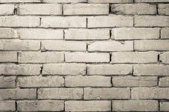 Черно-белая предпосылка текстуры кирпичной стены Стоковое Фото
