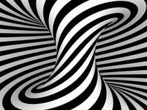Черно-белая проекция нашивок на торусе. Стоковая Фотография RF