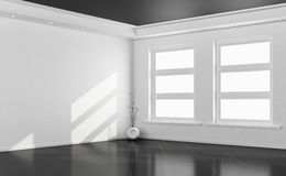 Черно-белая пустая комната иллюстрация штока