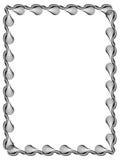 Черно-белая рамка вертикали guilloche ART зажима вектора бесплатная иллюстрация