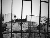Черно-белая резиденция Стоковые Фотографии RF