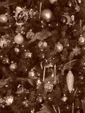 Черно-белая рождественская елка Стоковое фото RF