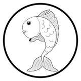 Черно-белая рыбка иллюстрации Стоковое Фото