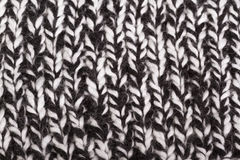 Черно-белая связанная ткань Стоковые Фотографии RF