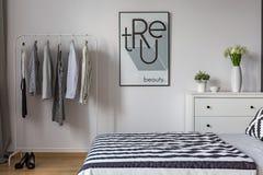 Черно-белая спальня Стоковое Изображение RF