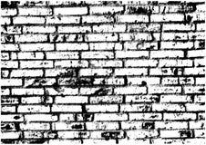 Черно-белая стена кирпичей Стоковая Фотография