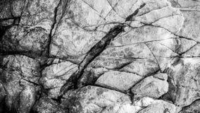 Черно-белая структура предпосылки утеса Стоковые Изображения RF