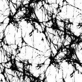 Черно-белая текстура батика - абстрактная безшовная картина Стоковое Изображение