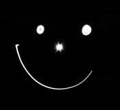 черно-белая улыбка Стоковые Фото