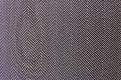 Черно-белая шевронная текстура ткани Стоковая Фотография