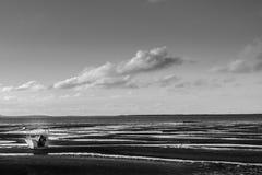 Черно-белая шлюпка Стоковая Фотография RF