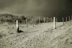 Черно-белая дюна Стоковые Изображения RF
