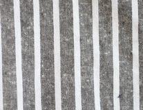 Черно-белая linen текстура Стоковая Фотография