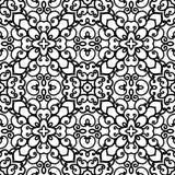 Черно-белая swirly картина Стоковое Изображение RF