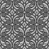 Черно-белая swirly картина Стоковые Изображения RF