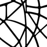 Черно-белое безшовное геометрических форм Стоковое Фото