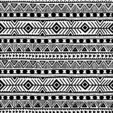Черно-белое безшовное этническое происхождение Стоковые Изображения RF