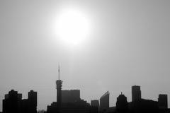 Черно-белое Гааги подсвеченное Стоковые Изображения