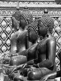 Черно-белое изображение Будды в виске Таиланде Чиангмая Стоковая Фотография RF