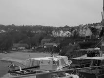 Черно-белое изображение городка welsh Стоковые Изображения
