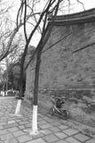 Черно-белое изображение дома xian старого Стоковые Фотографии RF